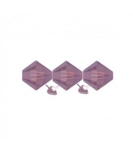 Biconi Swarovski® 5328 4 mm 398 Cyclamen Opal (60 pezzi)