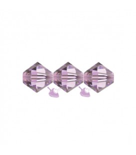 Biconi Swarovski® 5328 4 mm 212 Light Amethyst (60 pezzi)