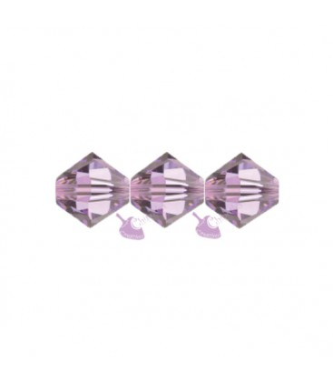 Biconi Swarovski 5328 4 mm 212 Light Amethyst