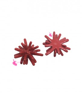 Connettore Ramo di Corallo 12x8 mm Smaltato Rosso