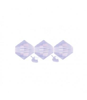 Biconi Swarovski 5328 4 mm 389 Violet Opal