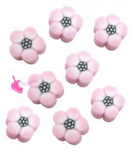 Perle Fiore Rosa Pasta Polimerica (10 pezzi)