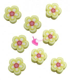 Perle Fiore Giallo Pasta Polimerica (10 pezzi)