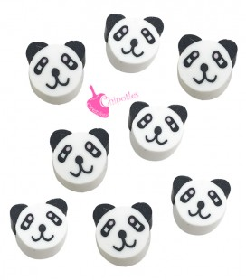 Perle Panda Pasta Polimerica (10 pezzi)