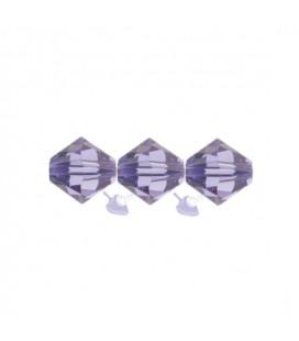 Biconi Swarovski® 5328 4 mm 539 Tanzanite (60 pezzi)