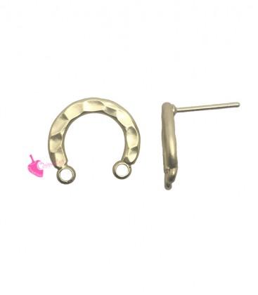 Perni per Orecchini Ferro di Cavallo  15x13 mm Oro Opaco (1 paio)