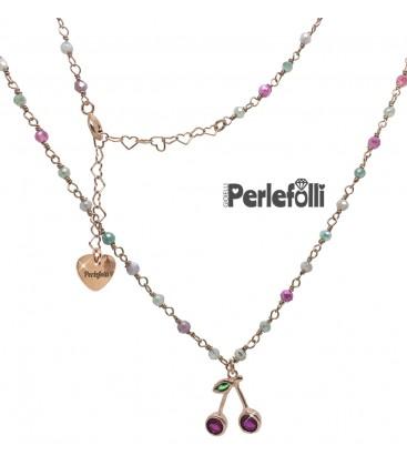 Collana Cerises Argento 925 Rosé