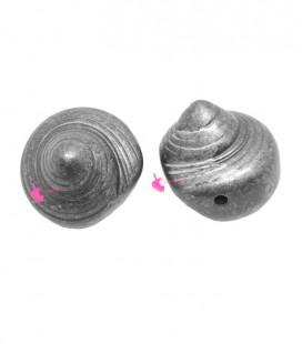Perla Conchiglia 25x24 mm Resina Argento Metallizzato