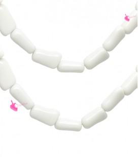 Perla Tubetto Corallo Resina 20 mm colore Bianco Latte