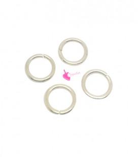 Anellini Apribili 8x1,2 mm Acciaio Inox colore Oro Chiaro (50 pezzi)