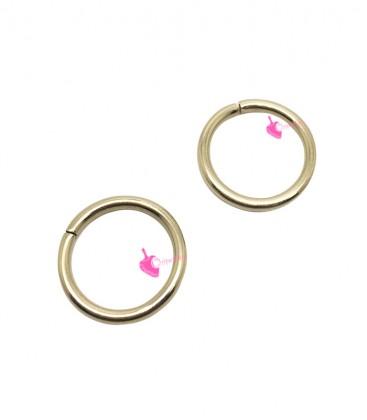 Anellini Apribili 13x1,5 mm Acciaio Inox colore Oro Chiaro (10 pezzi)