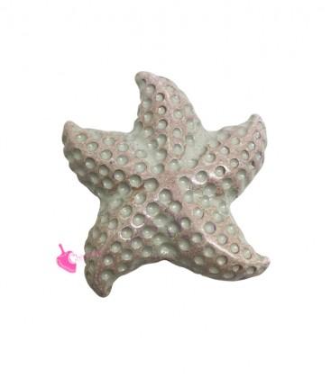 Perla Stella Marina 46x49 mm Resina Beige Rosa Perlato