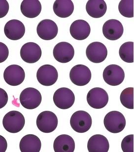 Perle Acrilico Opache 6 mm Mulberry Purple (100 pezzi)