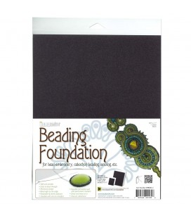 Base per Ricamo Soutache 28x22 cm Beading Foundation Beadsmith® (4 Fogli)
