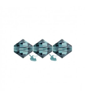 Biconi Swarovski® 5328 4 mm 379 Indicolite (60 pezzi)
