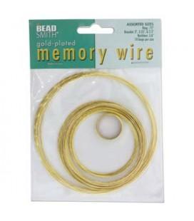 Filo Armonico 5 Misure Oro Memory Wire Gold Plated Beadsmith®
