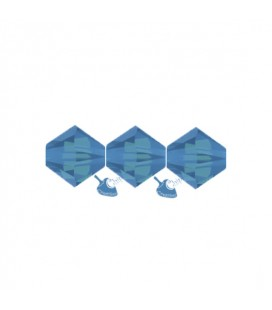 Biconi Swarovski® 5328 4 mm 394 Caribbean Blue Opal (60 pezzi)