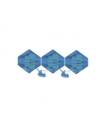 Biconi Swarovski 5328 4 mm 394 Caribbean Blue Opal
