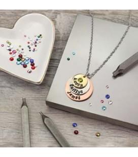 Kit per Incastonare Cristalli Crystal Setter Kit con Pietre Portafortuna ImpressArt®