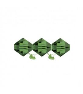 Biconi Swarovski® 5328 4 mm 291 Fern Green (60 pezzi)
