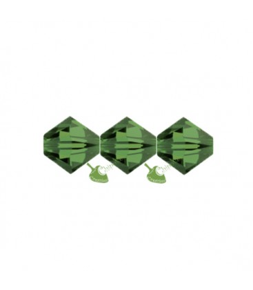 Biconi Swarovski 5328 4 mm 291 Fern Green