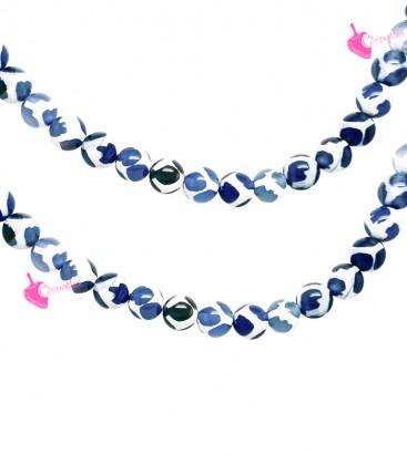 Filo Perle Agata Tibetana 8 mm Rombi Blu
