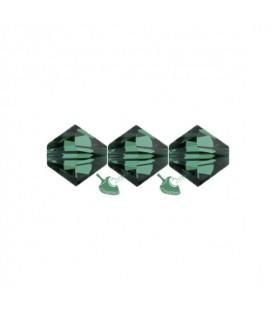 Biconi Swarovski® 5328 4 mm 205 Emerald (60 pezzi)