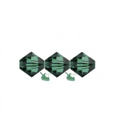 Biconi Swarovski 5328 4 mm 205 Emerald