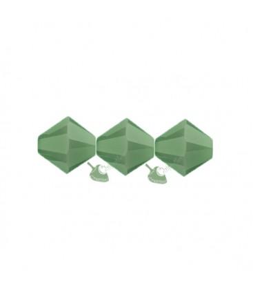 Biconi Swarovski 5328 4 mm 393 Palace Green Opal