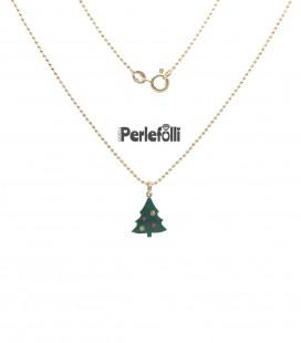 Collana Albero di Natale Argento 925 Oro
