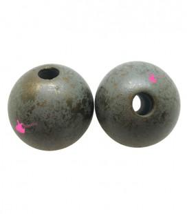 Perla Resina 25 mm Verde Effetto Spugna