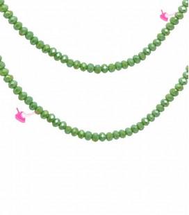 Filo Rondelle 6 mm Mezzo Cristallo Spring Green Opal AB