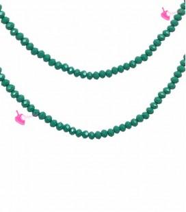 Filo Rondelle 6 mm Mezzo Cristallo Emerald Opal