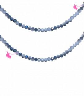 Filo Rondelle 4 mm Mezzo Cristallo Cornflower Blue Opal e Blue AB