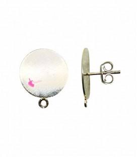 Perni per Orecchini con Piastra 12 mm Ottone Oro Chiaro (1 paio)