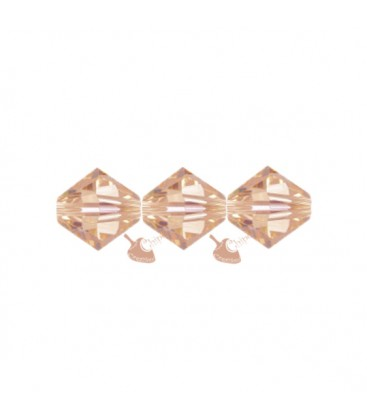 Biconi Swarovski 5328 4 mm 362 Light Peach