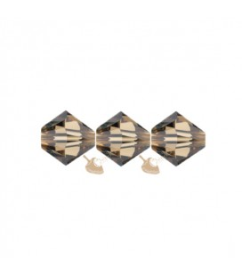 Biconi Swarovski 5328 4 mm 221 Light Smoked Topaz