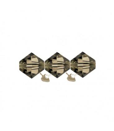 Biconi Swarovski 5328 4 mm 225 Smoky Quartz