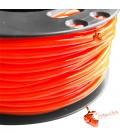 Cordoncino PVC 4 mm Forato colore Arancione Fluo (1 metro)