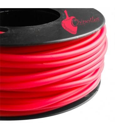 Cordoncino PVC 4 mm Forato colore Ciliegia
