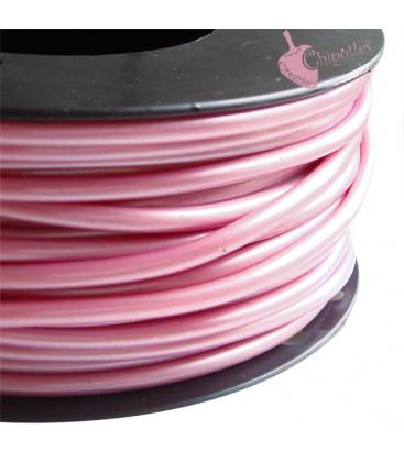 Cordoncino PVC 4 mm Forato colore Rosa Metallizzato