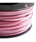 Cordoncino PVC 4 mm Forato colore Rosa Metallizzato (1 metro)