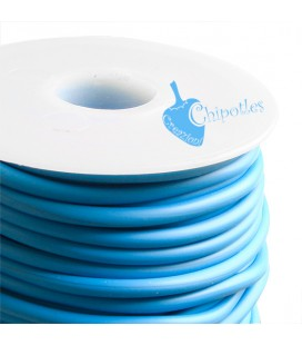 Cordoncino PVC 4 mm Forato colore Turchese