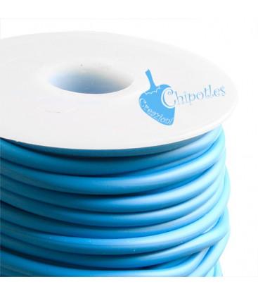 Cordoncino PVC 4 mm Forato colore Turchese