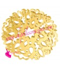 Ciondolo Tondo Decorato Filigrana 51x51 mm Plexiglass Specchiato color Oro