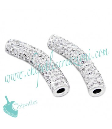 Tubo Strass Crystal 47x10 mm