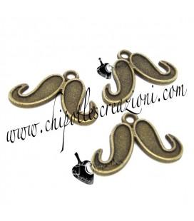 Ciondolo Baffi 15x22 mm colore Bronzo Antico