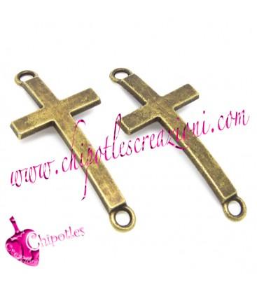 Ciondolo Connettore Croce 37x16,5 mm colore Bronzo Antico