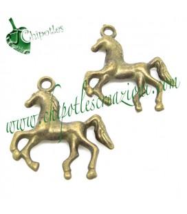 Ciondolo Cavallo 23x21 mm colore Bronzo Antico
