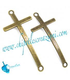 Ciondolo Connettore Croce 54x24 mm colore Bronzo Antico